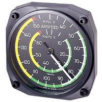 Airspeed Indicator Thermometer Wall Clock