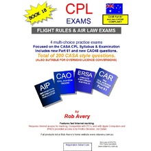 "BOOK OF 4 CPL ""FLIGHT RULES AND AIR LAW EXAMS"""