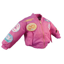 Youth MA1 Jacket With Patches, Pink